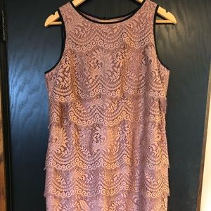 New Loft pink lace dress